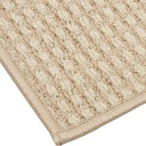 オールシーズン使えるループカーペット 江戸間6畳(261×352cm) アイボリー 平織りカーペット ラグ マット リップル - 拡大画像
