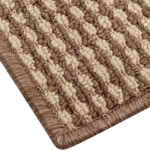 オールシーズン使えるループカーペット 本間8畳(382×382m) ベージュ 平織りカーペット ラグ マット リップル - 拡大画像
