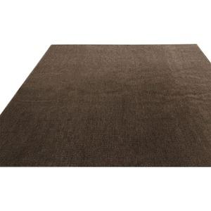 フリーカットができるカーペット 本間8畳(382×382cm) ブラウン 平織りカーペット ラグ マット フロート - 拡大画像