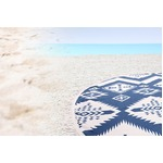 円形ビーチタオル/ラグマット 【直径150cm/マジョール ネイビー】 フリースタイルケット 西海岸風