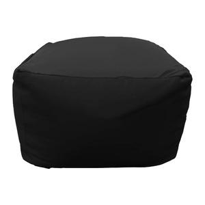 ぐでぐでビーズクッション 55×55×40cm ブラック クッション ソファークッション 一人用 ぐでぐでクッション