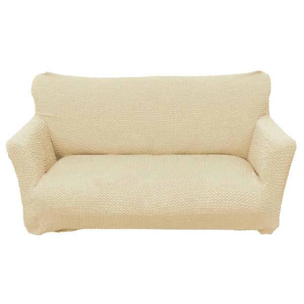 柔らかな触り心地ソファーカバー ソファーベッド用 3人掛け 肘なし ベージュ ソファーカバー ストレッチ 伸縮 2WAY 洗える ブレスト