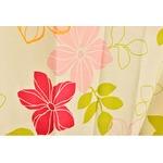 おしゃれな花柄遮光カーテン 100×135cm レッド 遮光 2重加工 形状記憶 洗える ハイビー