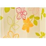 おしゃれな花柄遮光カーテン 100×178cm レッド 遮光 2重加工 形状記憶 洗える ハイビー