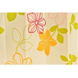 おしゃれな花柄遮光カーテン 100×200cm レッド 遮光 2重加工 形状記憶 洗える ハイビー