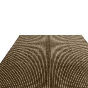 フリーカットができるカーペット 江戸間3畳(176×261cm) ブラウン 平織りカーペット ラグ マット フィール