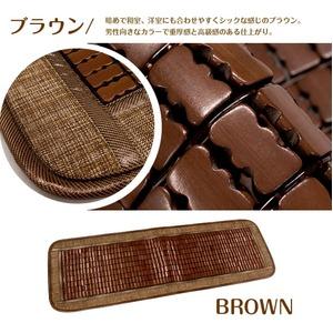 天然素材の涼しさ  竹シート メッシュタイプ 40×120cm ブラウン 接触冷感 冷感 ひんやり バンブーシート ドミノメッシュ