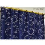 1級遮光カーテン 2枚組 100×200cm ブルー 月 星 夜空 形状記憶 遮光 ステラ
