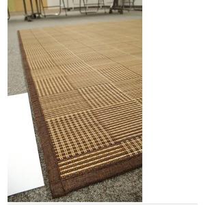 クッション入り竹ラグ 180×180cm 2畳 ブラウン ウレタン8mm 丸巻 竹 バンブー ラグマット バンブーラグ ブロット