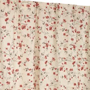 窓際を愉しむ麻混レースカーテン 【2枚組 100...の商品画像