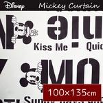 ディズニー ミッキーマウス カーテン 【2枚組 100×135cm/ホワイト】 タッセル付き 洗える 形状記憶 ミッキーBA