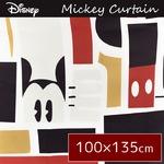 ディズニー ミッキーマウス カーテン 【2枚組 100×135cm/ブラック】 タッセル付き 洗える 形状記憶 ミッキーAP