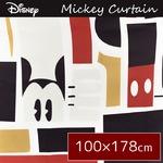 ディズニー ミッキーマウス カーテン 【2枚組 100×178cm/ブラック】 タッセル付き 洗える 形状記憶 ミッキーAP