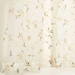 8種類から選べるボイルレースカーテン 【2枚組 100×198cm/イエロー】 タッセル付き 柄物 ボタニカル 『ボイルアルテ』商品画像
