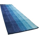 踏み心地のいい カラフル キッチンマット 玄関マット / 45×60cm ブルー / 滑り止め付き 洗える 吸水 『グラデーション』