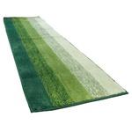 踏み心地のいい カラフル キッチンマット 玄関マット / 45×60cm グリーン / 滑り止め付き 洗える 吸水 『グラデーション』