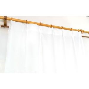 多機能レースカーテン 【2枚組 100×176cm】 ホワイト 防カビ・防汚・結露防止 UVカット 無地 シンプル 『マイティ』