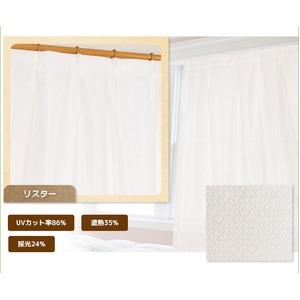 採光レースカーテン/目隠し 【2枚組 100×133cm/リスター】 UVカット機能付き 遮熱 遮像 洗える