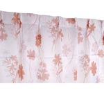 外から見えにくい 遮像レースカーテン / 2枚組 100×176cm ピンク / フラワー柄 洗える ボイルレース