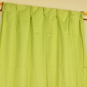 シンプル遮光カーテン/目隠し 【2枚組 100×200cm/グリーン】 洗える 『フィリー』