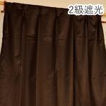 シンプル 遮光カーテン 目隠し / 2枚組 100×200cm ブラウン / 洗える 『フィリー』
