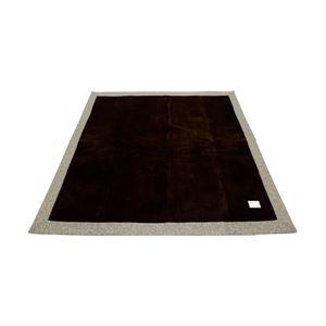 ラグ 185×185cm 正方形 ブラウン 洗える ラグマット ホットカーペット対応 床暖房 秋用 冬用 ニットフランネルラグ