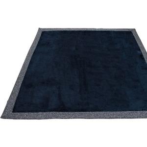 ラグ 200×250cm 長方形 ネイビー 洗える ラグマット ホットカーペット対応 床暖房 秋用 冬用 ニットフランネルラグ