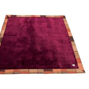 ラグ 200×250 長方形 オレンジ 洗える ラグマット ホットカーペット対応 床暖房 秋用 冬用 ガイヤラグ