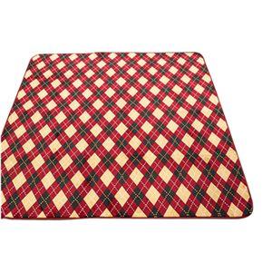 ラグ 200×250cm 長方形 レッド 洗える ラグマット ホットカーペット対応 床暖房 秋用 冬用 アーガイルラグ