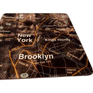 ラグ 185×185 正方形 ブラウン ラグマット ホットカーペットカバー フランネル マップ