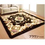 ラグマット 絨毯 / 200×200cm 正方形 ブラウン / 床暖房対応 フランネル地 防音 『アンタレス』