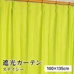 8色から選べる遮光カーテン 2枚組 100×135 グリーン 無地 シンプル 洗える 形状記憶 タッセル付き ステイシー