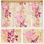 遮光カーテン 2枚組 100×188 ローズ 花柄 ボタニカル柄 洗える アジャスターフック付き タッセル付き シルエミスト