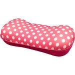 腰当てクッション 【ピンク】 20cm×41cm 水玉柄 低反発ウレタンフォーム 『ミズタマ』 〔リビング ベッドルーム〕
