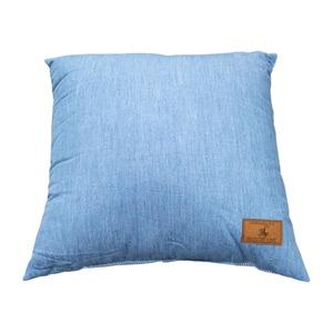 背あてクッション 43×43 ライトブルー ソファークッション デニム シリコン綿 へたりにくい ジーンズ