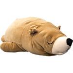 もちもちクッション くま抱き枕 32×68 ブラウン シリコン綿 クッション 抱き枕 クマダキマクラ