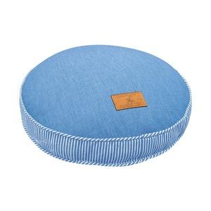 フロアクッション 直径40 ライトブルー ソファークッション デニム シリコン綿 へたりにくい ジーンズ