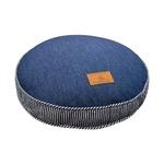 フロアクッション 直径40 ネイビー ソファークッション デニム シリコン綿 へたりにくい ジーンズの画像