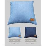 背あてクッション 43×43 ブルー ソファークッション 綿100% シリコン綿 へたりにくい マリンボーダー