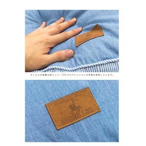 背あてクッション/ソファークッション 【ブルー】 43cm×43cm 正方形 綿100% シリコン綿使用 『マリンボーダー』 〔リビング〕