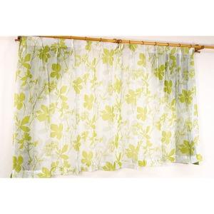 バッグ付き 4枚組遮光カーテン 100×135 グリーン 花柄 南国風 タッセル付き 洗える パスピエ