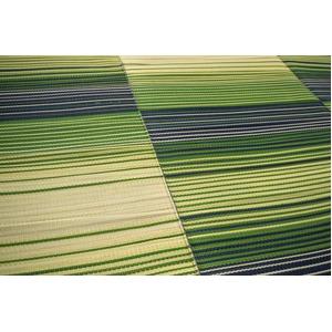 い草ラグ ボリュームタイプ 180×180 2畳 グリーン グラデーション柄 ふっくら ラグマット レジェンド