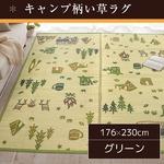 い草ラグ 176×230 3畳 グリーン ラグマット 子供部屋 アウトドア