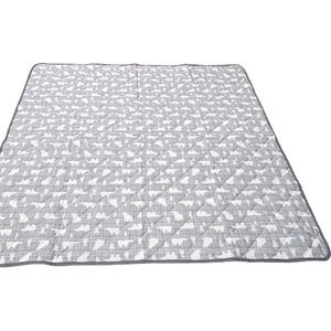 接触冷感ラグ 185×240 グレー 白くま柄 ラグ ひんやり クール 洗える 冷感白くま