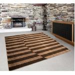 カーペット ラグ 190×190 ブラウン レベルカット 絨毯 ラグマット 抗菌 ダリア
