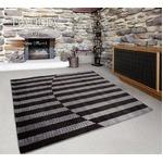 ラグマット/絨毯 【190cm×240cm 長方形 グレー】 日本製 レベルカット仕様 抗菌加工 『ダリア』 〔リビング ダイニング〕