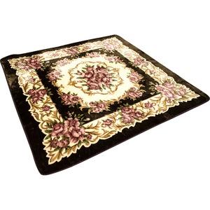 ラグカーペットホットカーペット対応ふっくらボリューム高級感のある花柄デザインGシリウス幅200×奥行250cmブラウン