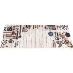 キッチンマット キッチン マット 台所 汚れに強い PVC キッチンマット ティンバー 45x180cmの画像