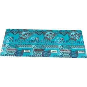 キッチンマット キッチン マット 台所 汚れに強い PVC キッチンマット スタンプ 45x180cm ブルー