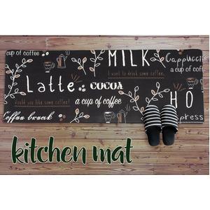 キッチンマット キッチン マット 台所 汚れに強い PVC キッチンマット カップ 45x180cm ブラック